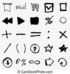 Hand Drawn Symbols, illustration.