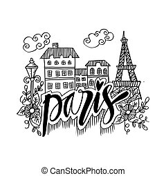 Hand Drawn Symbols Of Paris