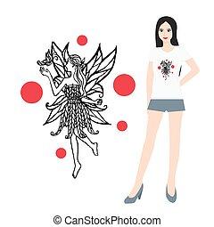 Hand drawn t shirt design