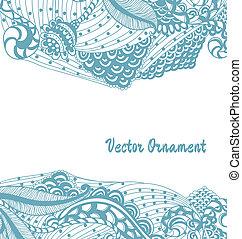 hand-drawn, tarjeta, Ornamentos