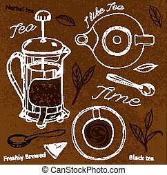 Hand Drawn Tea