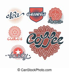 Hand drawn text labels