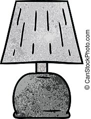 textured cartoon doodle of a bed side lamp