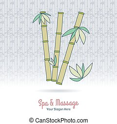 Hand drawn Thai massage and spa design elements.