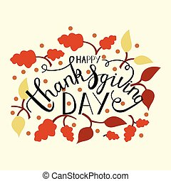 hand drawn thanksgiving lettering