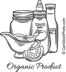 Hand drawn tomato sauce,