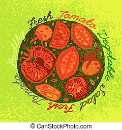 Hand drawn tomatoes