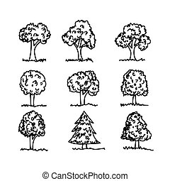 Hand drawn tree