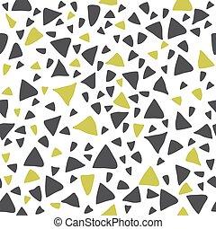 Hand drawn triangle seamless pattern