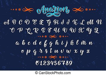Hand drawn typeface. Brush painted letters. Handwritten script alphabet isolated on white background. Handmade alphabet for your designs logo, posters, invitations, cards, etc.