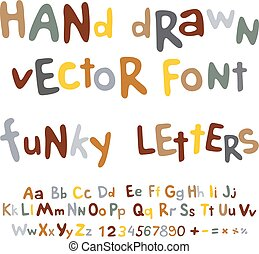Vector rope font  nautical alphabet ropes hand drawn letters