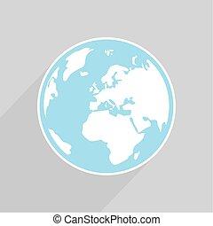 Hand drawn vector earth