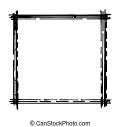 Hand drawn vector frame