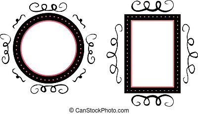 Hand drawn vector frames