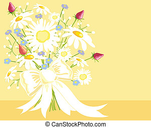 bouquet - hand drawn vector illustration of a bouquet of ...