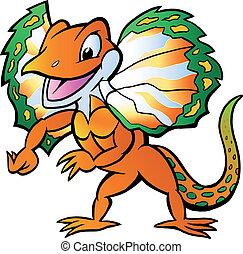 Lizard in colorful splendor