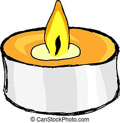 aromatic candle - hand drawn, vector illustration of ...