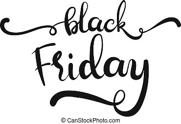 Hand drawn vector lettering - Black Friday -