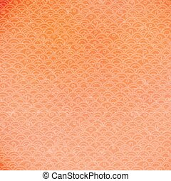 Hand drawn vector orange doodle pattern.
