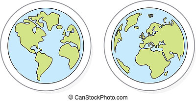 Hand drawn vector planet earth