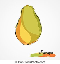 Brazilian pawpaw Clipart Vector and Illustration  8