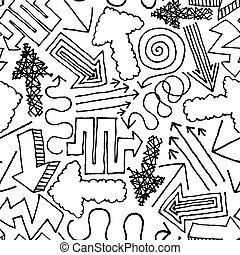 Hand drawn vector seamless Pattern / Background