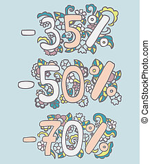 Hand drawn vector set of doodles design elements.