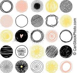 Hand drawn vector sketch circle