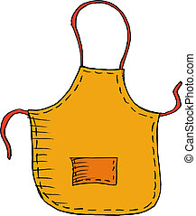 apron - Hand drawn, vector, sketch illustration of apron