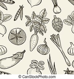 vegetables seamless pattern.