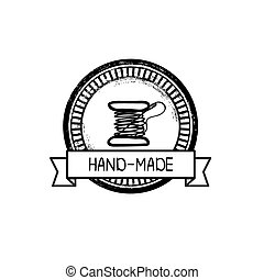 hand-drawn, vektor, jelvény, retro, kézi