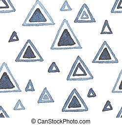 Hand drawn watercolor seamless pattern