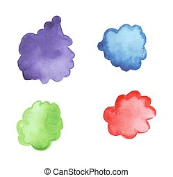 Hand drawn watercolor stains  vector illustration.