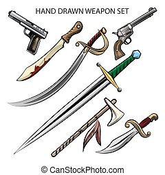 Hand Drawn weapon Set