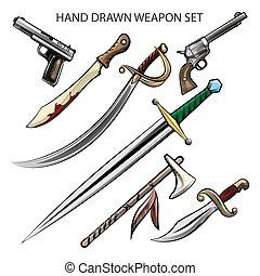 Hand Drawn weapon Set