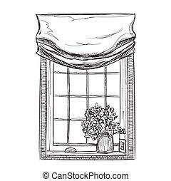Hand drawn Windows Sketch