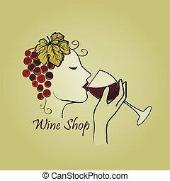 Hand drawn Wine label