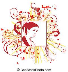 hand drawn woman