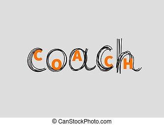 Hand drawn word coach