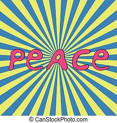 Hand-drawn word Peace for Ukraine.