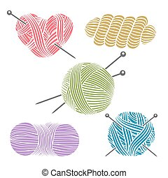 Hand drawn yarn for knitting. Knit and handmade, craft and...