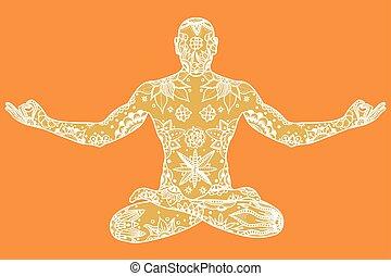 Yoga lotus pose
