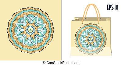 zen-like mandala - Hand drawn zen-like mandala for decorate...