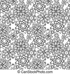 Hand drawn zentangle floral doodles  tribal style for adult coloring book. Vector illustration eps 10 for your design