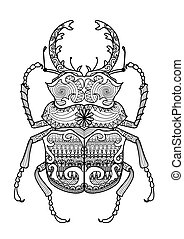 odontolabis cuvera - Hand drawn zentangle odontolabis cuvera...