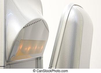 Hand dryer - Vertical hand dryer close up
