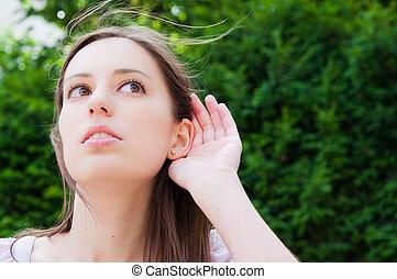 hand-ear, kihallgatás