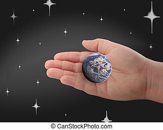 Hand, Earth, planet