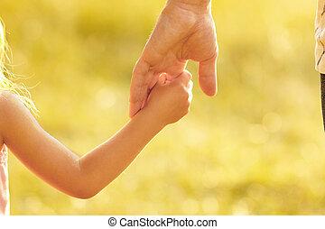hand, elternteil, kind