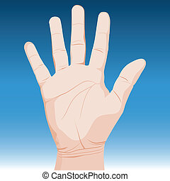 Hand - An image of a realistic hand.